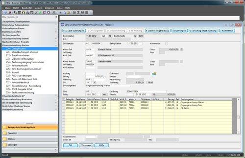 3. Produktbild Bau f�r Windows - integrierte L�sung f�r Bauunternehmen