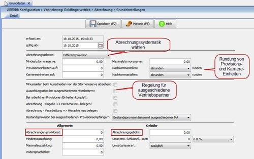 1. Produktbild FABIS Provisionsabrechnung Provisionssystem