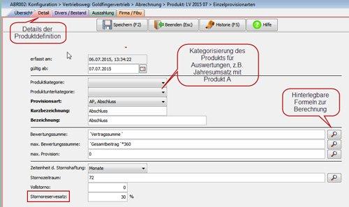 3. Produktbild FABIS Provisionsabrechnung Provisionssystem