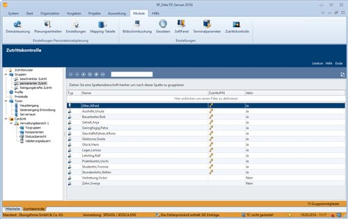 7. Produktbild SP_Data Personalzeitwirtschaft & Zutrittskontrolle