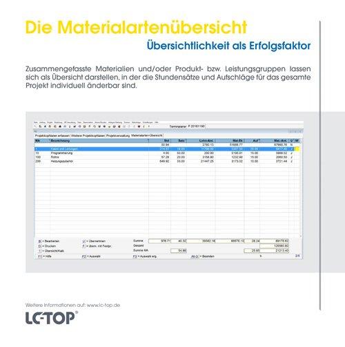 13. Produktbild LC-TOP - Handwerkersoftware für die Auftragsbearbeitung