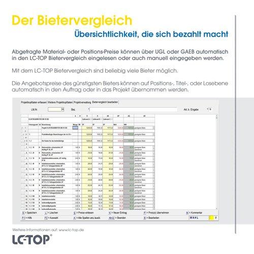 33. Produktbild LC-TOP - Kalkulationssoftware für GAEB