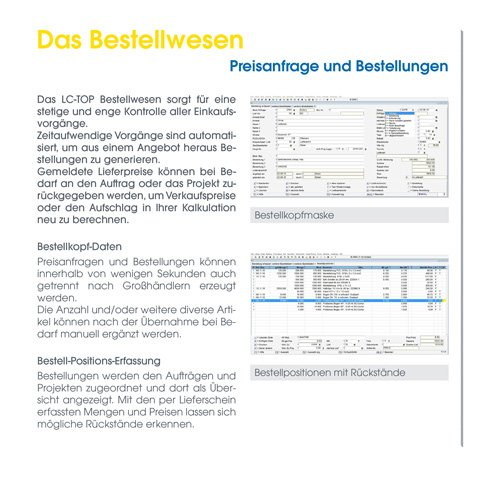 14. Produktbild LC-TOP Kundendienstsoftware für Sanitär-Heizung-Klima (SHK)