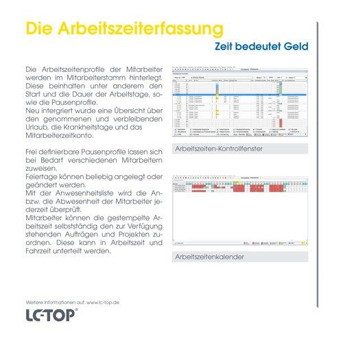 19. Produktbild LC-TOP-Zeiterfassung - Arbeitszeitenprofile Ihrer Mitarbeiter
