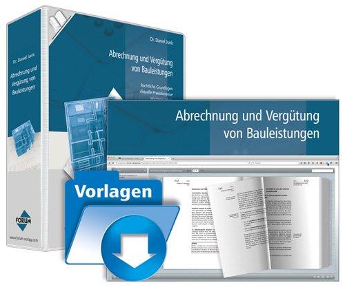 1. Produktbild Abrechnung und Vergütung von Bauleistungen