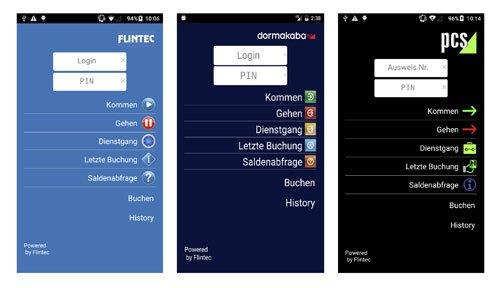 1. Produktbild FLINTEC IT - mobile Zeiterfassung