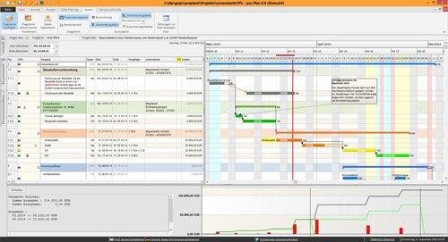2. Produktbild pro-Plan - f�r die Projektplanung und Bauzeitenplanung