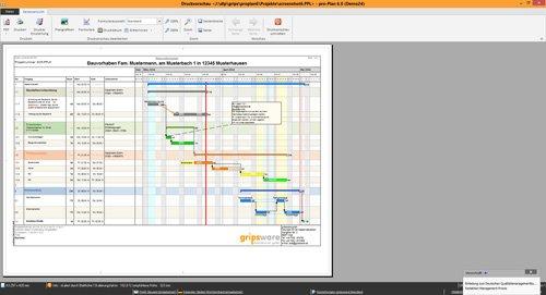 3. Produktbild pro-Plan - f�r die Projektplanung und Bauzeitenplanung
