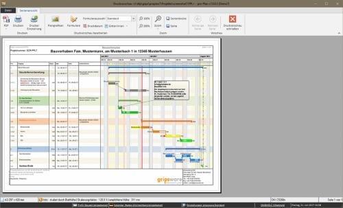 3. Produktbild pro-Plan - für die Projektplanung und Bauzeitenplanung