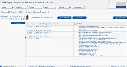 ONIX Export Engine 3.0: Scheduler Service