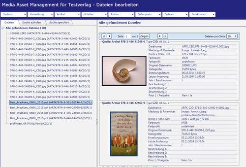 BARKMANN Media Asset Management: Assetsuche und Trefferanzeige