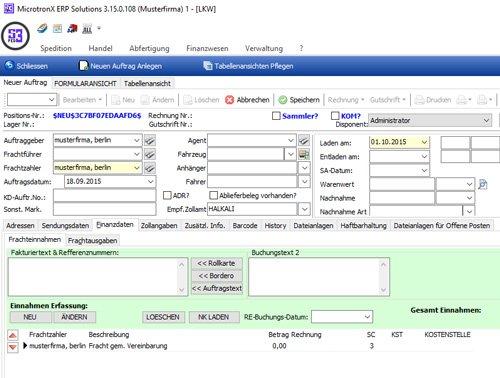 3. Produktbild MicrotronX ERP - Speditionssoftware