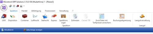 5. Produktbild MicrotronX ERP - Speditionssoftware