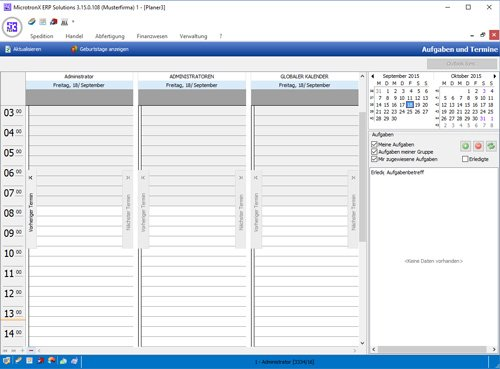 7. Produktbild MicrotronX ERP - Speditionssoftware