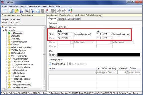 4. Produktbild SJ PROMA - zur Erstellung eines Bauzeitenplan