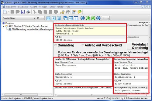 2. Produktbild SJ FORMA - Formularsoftware für Bauantrag / Baugenehmigung
