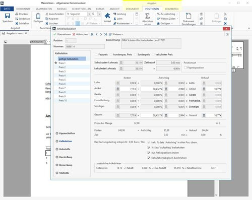 4. Produktbild Meisterbüro - Handwerkersoftware