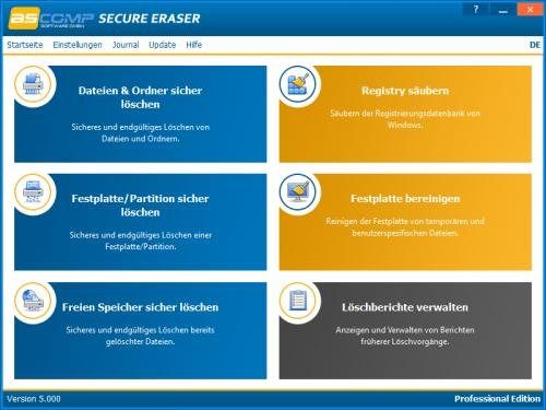 1. Produktbild Secure Eraser - Sicheres Löschen von Dokumenten und Festplatten