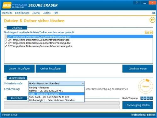 2. Produktbild Secure Eraser - Sicheres Löschen von Dokumenten und Festplatten