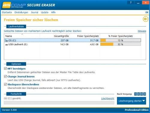 4. Produktbild Secure Eraser - Sicheres Löschen von Dokumenten und Festplatten