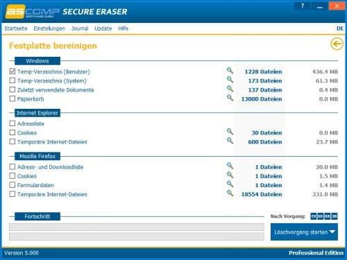 6. Produktbild Secure Eraser - Sicheres Löschen von Dokumenten und Festplatten