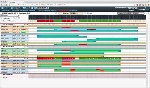 1. Produktbild MEP24web - Einsatzplanung mit integrierter Zeitwirtschaft
