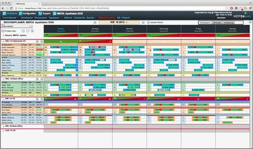 2. Produktbild MEP24web - Einsatzplanung mit integrierter Zeitwirtschaft