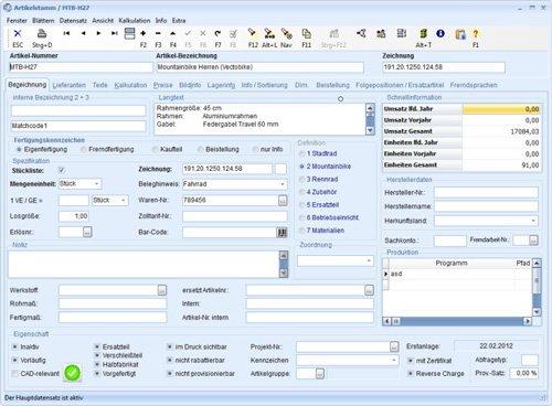 2. Produktbild TaxMetall - ERP / PPS / WWS f�r Fertigungsunternehmen u. Lohnfertiger