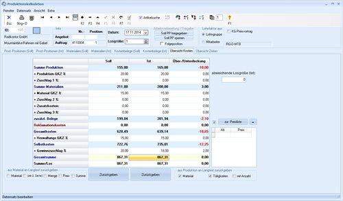 6. Produktbild TaxMetall - ERP / PPS / WWS für Fertigungsunternehmen u. Lohnfertiger