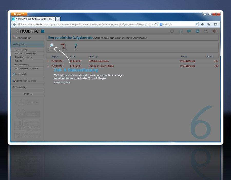 2. Produktbild PROJEKTA� - CRM, Zeiterfassung und Abrechnung f�r Projekte