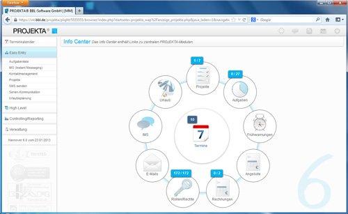 1. Produktbild PROJEKTA� - CRM, Zeiterfassung und Abrechnung f�r Projekte