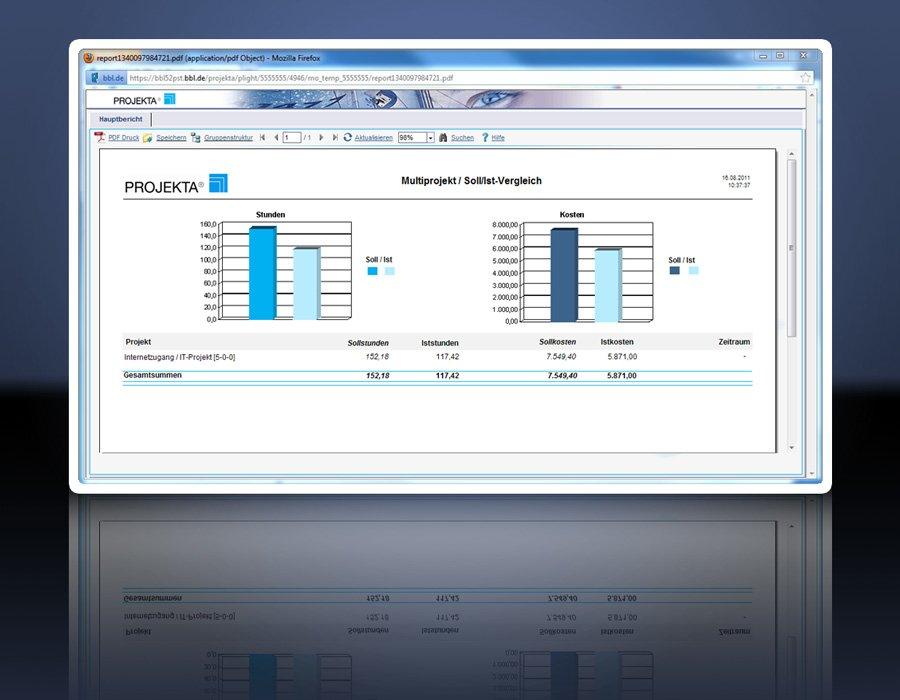 4. Produktbild PROJEKTA� - CRM, Zeiterfassung und Abrechnung f�r Projekte