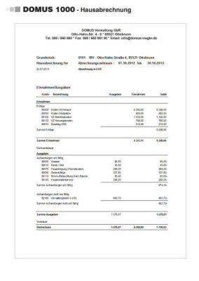 3. Produktbild DOMUS 1000 - Software für die Hausverwaltung