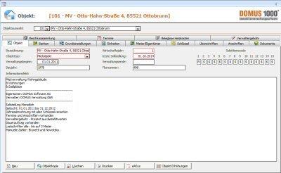 1. Produktbild DOMUS 1000 - Software f�r die Hausverwaltung