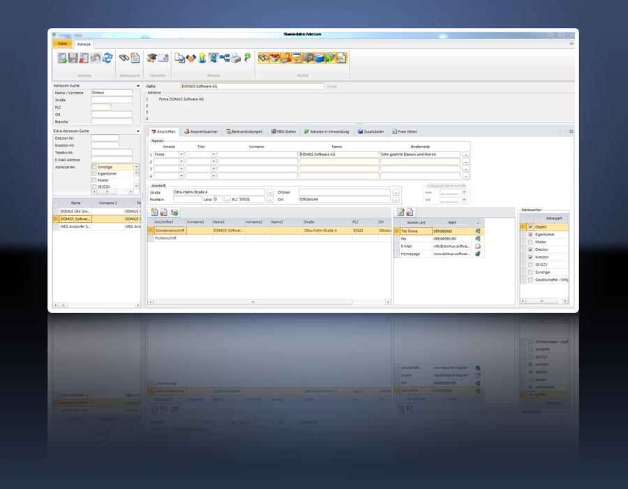 1. Produktbild   DOMUS 4000 - Professionelle L�sung f�r die Immobilienverwaltung