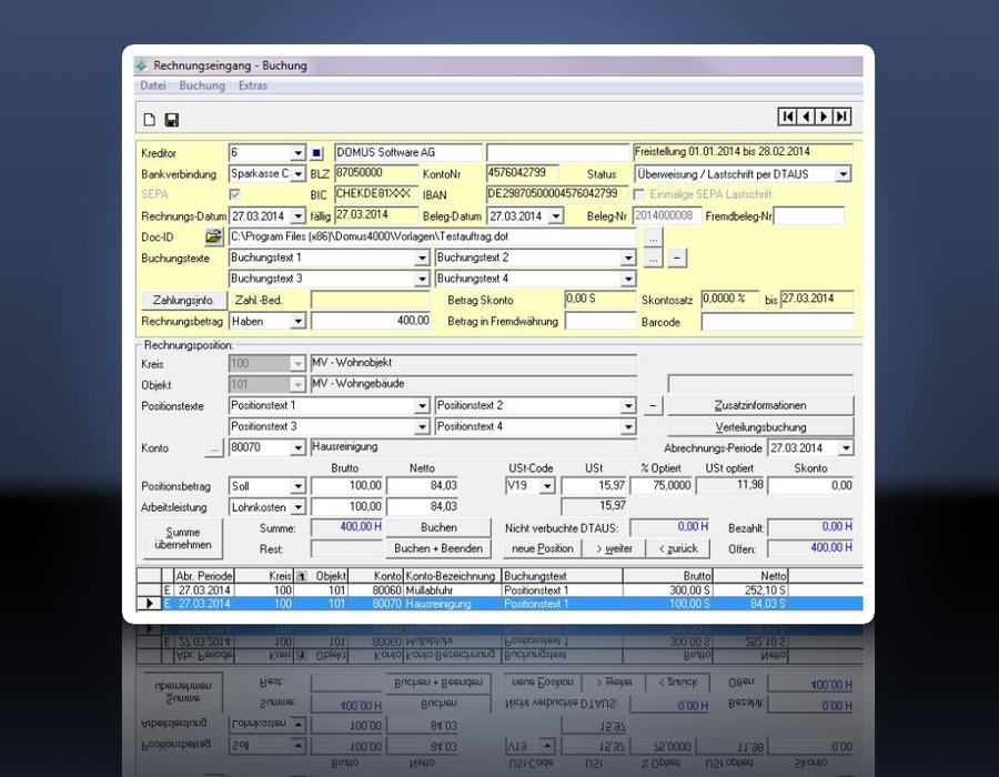 2. Produktbild   DOMUS 4000 - Professionelle L�sung f�r die Immobilienverwaltung