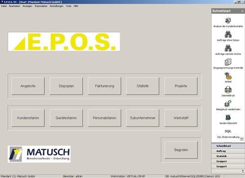1. Produktbild E.P.O.S. - Vermietsoftware für Autokrane und Schwertransporte uvm