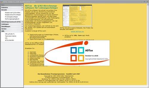 1. Produktbild ADTax §302-Kassenabrechnung und Privatrechnung