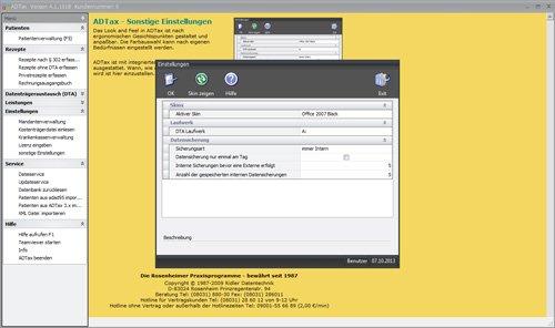 3. Produktbild ADTax �302-Kassenabrechnung und Privatrechnung