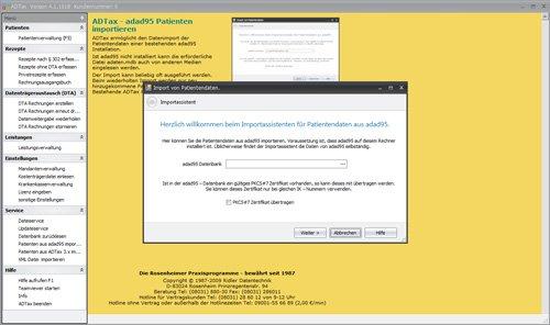 7. Produktbild ADTax �302-Kassenabrechnung und Privatrechnung