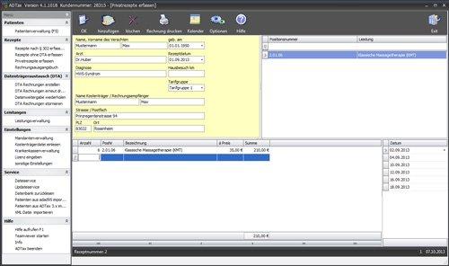 12. Produktbild ADTax �302-Kassenabrechnung und Privatrechnung