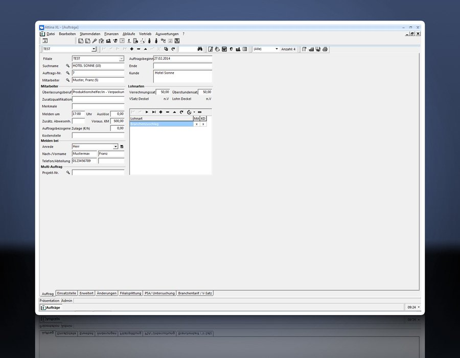 1. Produktbild Attina - Software für Zeitarbeit & Personalvermittler