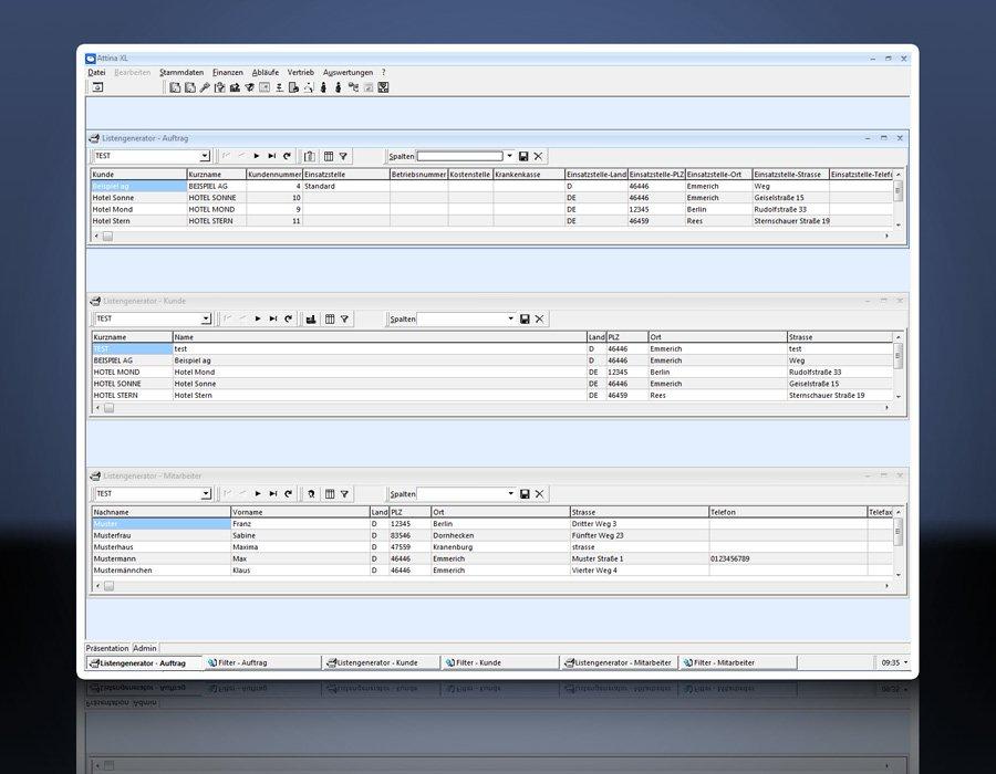 2. Produktbild Attina - Software für Zeitarbeit & Personalvermittler