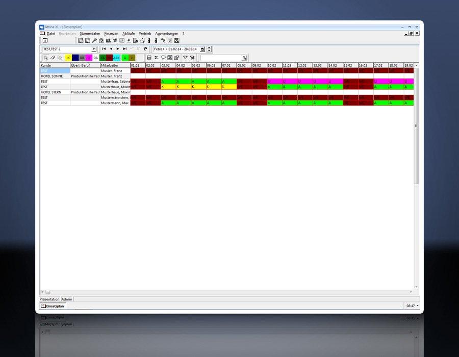 5. Produktbild Attina - Software f�r Zeitarbeit & Personalvermittler