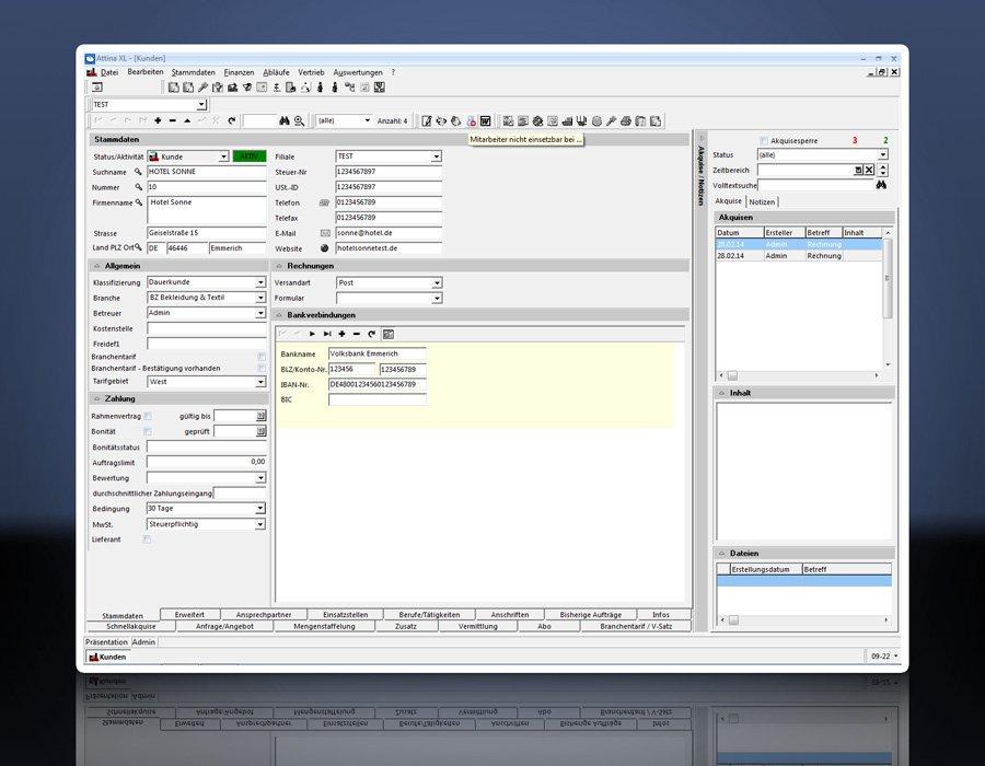 7. Produktbild Attina - Software für Zeitarbeit & Personalvermittler