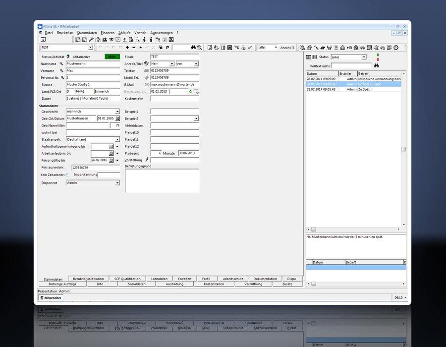 8. Produktbild Attina - Software f�r Zeitarbeit & Personalvermittler