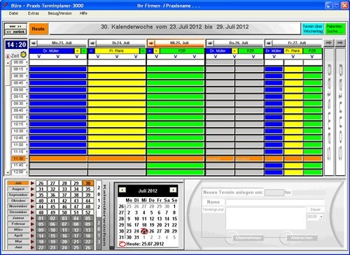 1. Produktbild Büro & Praxis Terminplaner 3000