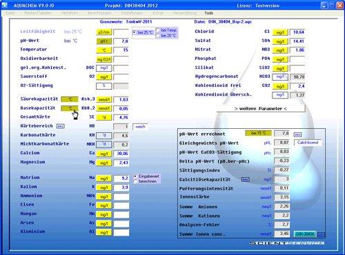 1. Produktbild Aquachem - Software f�r Wasseraufbereitung + Planung