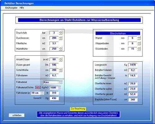 9. Produktbild Aquachem - Software f�r Trinkwasser-Aufbereitung+Planung