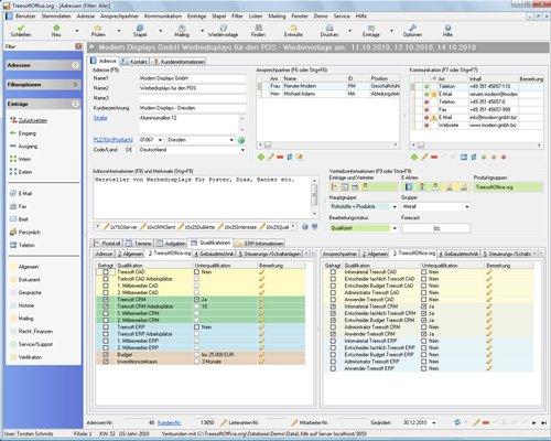 6. Produktbild Kundenbeziehungsmanagement - Treesoft CRM